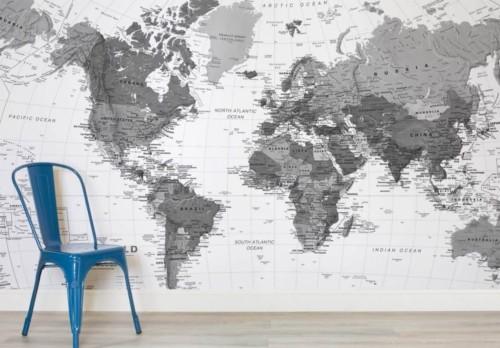Cartina Geografica Del Mondo In Bianco E Nero.Carta Da Parati Del Mondo Parete Sfondo Carta Geografica Mondo Camera Sedia Mobilia Bianco E Nero Illustrazione 1074923 Wallpaperkiss