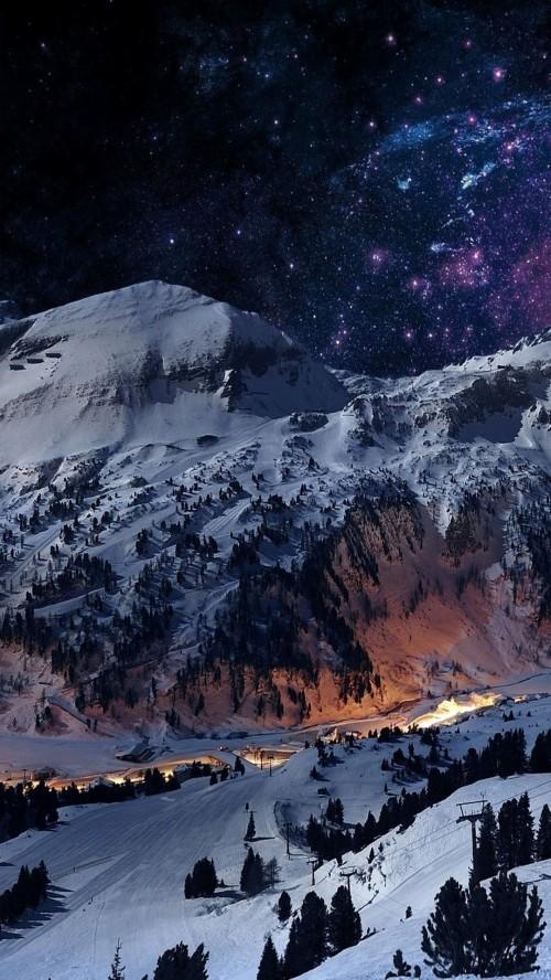 Iphone 6のための最高の壁紙 自然 空 山 山脈 雪 冬 風景 アルプス Wallpaperkiss