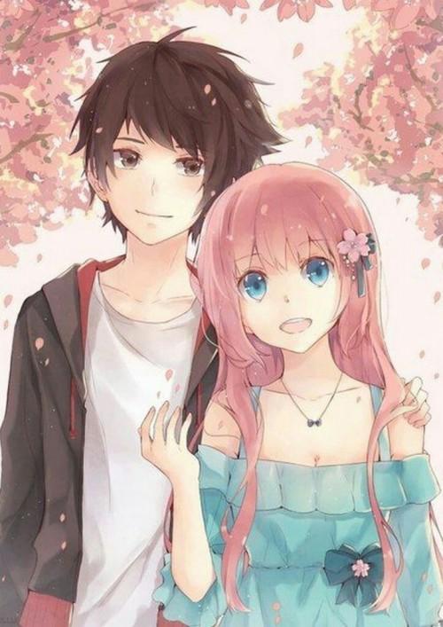Cute Anime Couple Wallpaper Anime Black Hair Cartoon Gesture Illustration Long Hair Hime Cut Hug 1224740 Wallpaperkiss