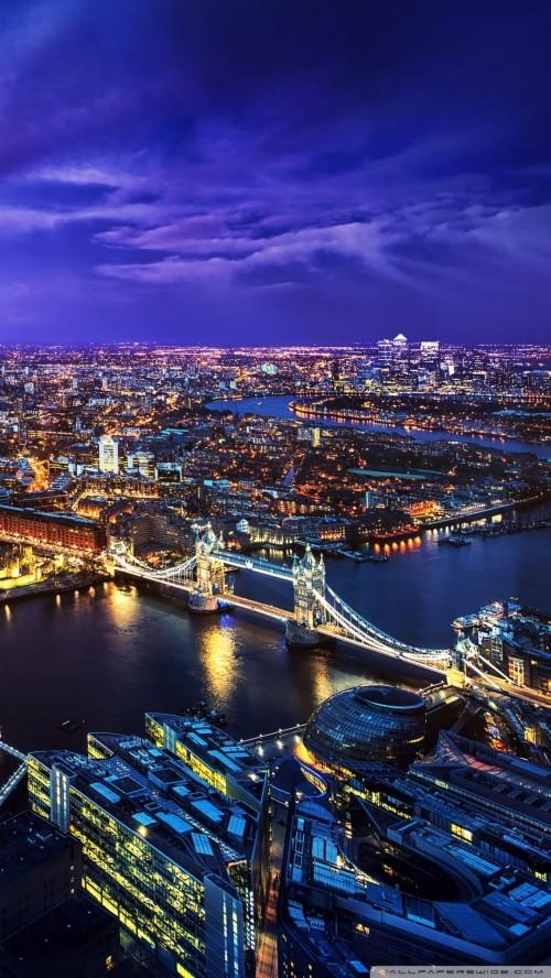 ロンドンのiphoneの壁紙 都市の景観 首都圏 市 市街地 空 夜 スカイライン 空中写真 Wallpaperkiss